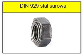 DIN 929 stal surowa