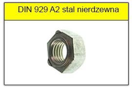 DIN 929 A2 stal nierdzewna