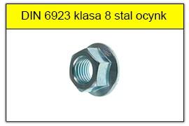 DIN 6923 klasa 8 ocynk galwaniczny