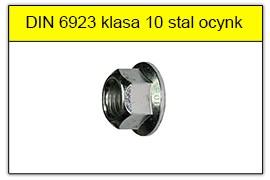 DIN 6923 klasa 10 ocynk galwaniczny