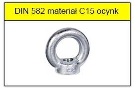 DIN 582 stal C15 ocynk