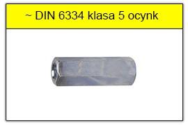 DIN 6334 Nakrętka 6-kątna bardzo długa