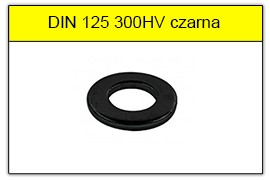 DIN 125 300HV czarna