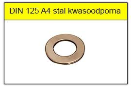 DIN 125 A4 stal kwasoodporna
