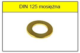 DIN 125 mosiężna