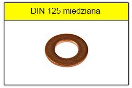 DIN 125 miedziana