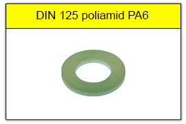 DIN 125 poliamid PA6