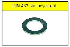 DIN 433 stal ocynk galwaniczny