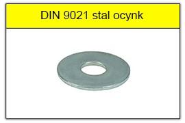 DIN 9021 stal ocynk galwaniczny