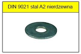 DIN 9021 stal A2 nierdzewna