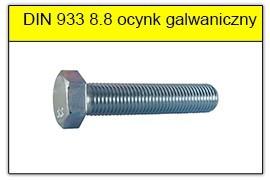 DIN 933 8.8 ocynk galwaniczny