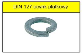 DIN 127 ocynk płatkowy