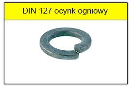 DIN 127 ocynk ogniowy