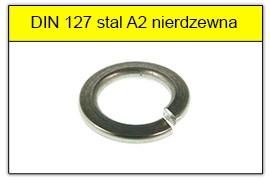DIN 127 stal A2 nierdzewna