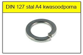 DIN 127 stal A4 kwasoodporna