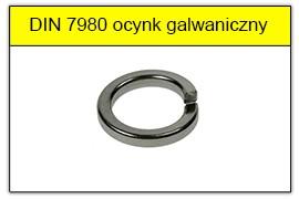 DIN 7980 ocynk galwaniczny