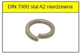 DIN 7980 stal A2 nierdzewna
