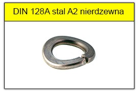DIN 128A ocynk galwaniczny