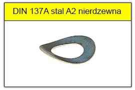 DIN 137A stal A2 nierdzewna