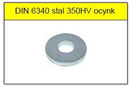 DIN 6340 stal 350HV ocynk galwaniczny