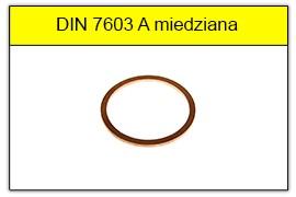 DIN 7603 A uszczelka miedziana