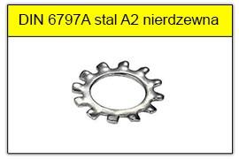 DIN 6797A stal A2 nierdzewna