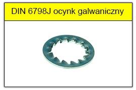 DIN 6798J ocynk galwaniczny