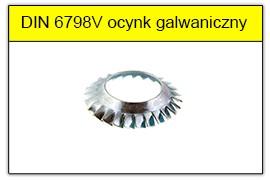 DIN 6798DD ocynk galwaniczny