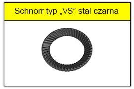 Podkładka Schnorra pogrubiona czarna