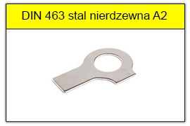 DIN 463 - PN-82022 stal nierdzewna A2
