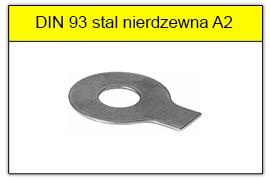 DIN 93 - PN-82021 stal nierdzewna A2