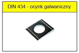 DIN 434 - PN-82018 ocynk galwaniczny