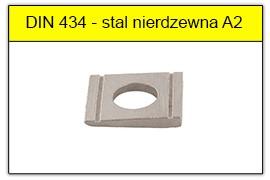DIN 434 - PN-82018 stal nierdzewna A2