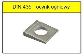 DIN 435 - PN-82009 ocynk ogniowy