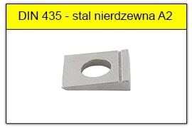 DIN 435 - PN-82009 stal nierdzewna A2