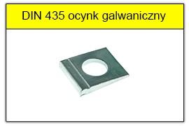 DIN 435 - PN-82009 ocynk galwaniczny