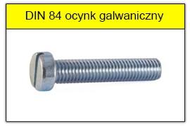 DIN 84 ocynk galwaniczny