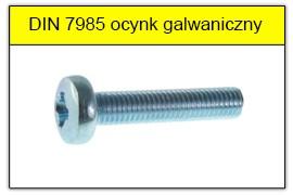 DIN 7985 ocynk galwaniczny