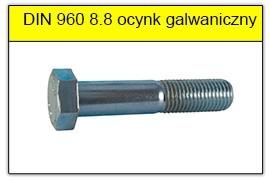 DIN 960 8.8 ocynk galwaniczny