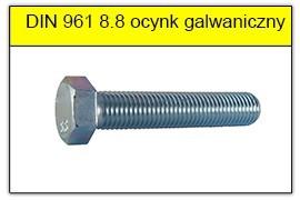 DIN 961 8.8 bez powłoki