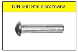 DIN 660 nierdzewne A2