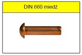 DIN 660 miedziane