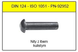 DIN 124 stalowe