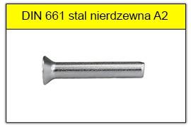 DIN 661 nierdzewne A2