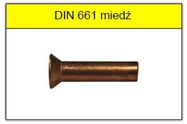DIN 661 miedziane