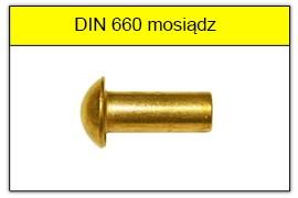 DIN 660 mosiężne