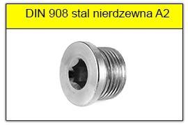 DIN 908 stal nierdzewna A2