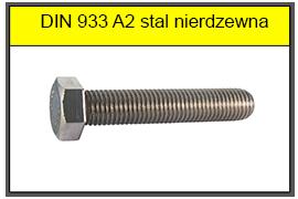DIN 933 A2 stal nierdzewna
